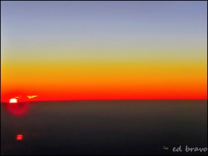 Sunset in the air by Ed Bravo