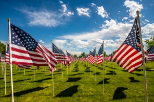 D-Day Memorial American Flags by Gary Whitton