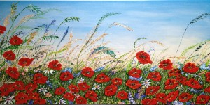Poppy Field by Ginny Wilkie