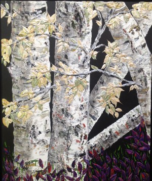 Shaded Birch by Ginny Wilkie