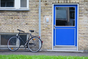 Blue Door and Bike by Greg Starr
