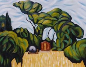 Field Near Mount Ste. Victoire by Gregg Simpson