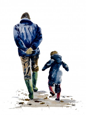 A Walk with Grandpa by Wall Art Unlimited