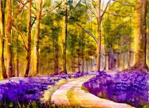 Bluebell Walk  by Wall Art Unlimited