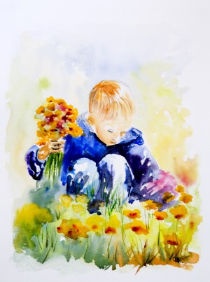 Flowers for Mommy by Wall Art Unlimited