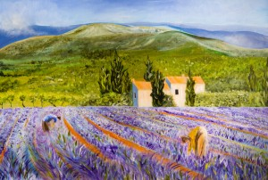 Lavender Harvest in Provence, France by Wall Art Unlimited