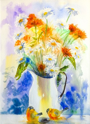 Summer Bouquet  by Wall Art Unlimited