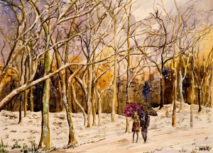 Walk on A Winters Day  by Wall Art Unlimited