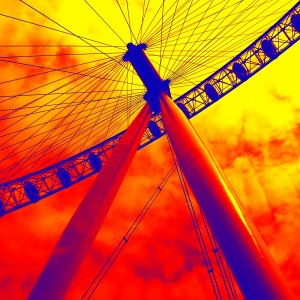 LONDON EYE ON FIRE by Henri Hadida