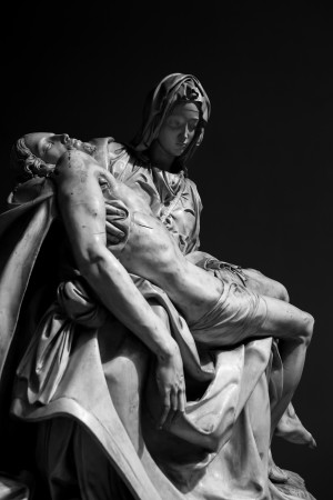 Pieta by Michelangelo II by Ira Silence