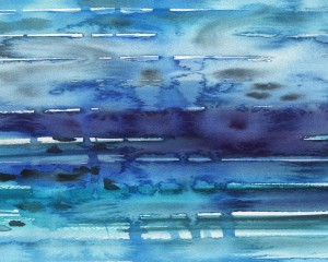 Abstract Blue Seascape Waves And Reflections by Irina Sztukowski