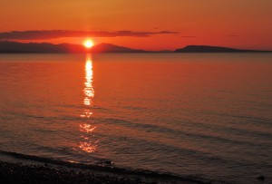 Qualicum Beach Sunset by J  Jasmyn Phillips