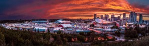 Calgary After the Storm - Fire in the Sky by Jane Dobbs