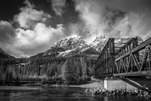 Canmore Train Bridge by Jane Dobbs