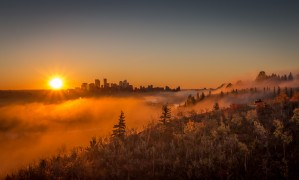 Calgary Sunrise by Jane Dobbs