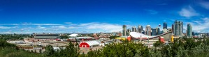 Stampede Park and the Saddledome by Jane Dobbs