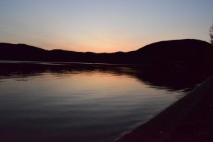 Lake George Sunset on Shoreline  by Jarrod Sammis