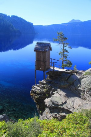 Little House at  Crater Lake by John Foster