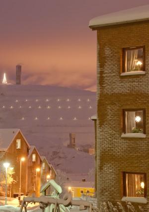 Midwinter mine town by Jonas Sundberg