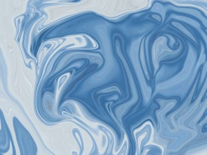 Blue Abstract Art Print by Katherine Lindsey Photography