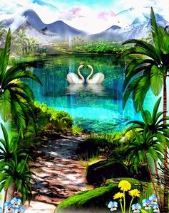 SWANS LAKE by Kaye Baby
