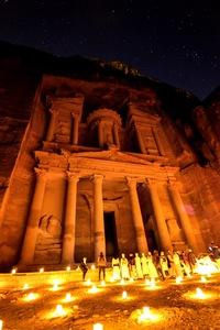 The Treasury at Night - Jordan by Kevin Savage-Davis
