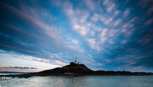 Mumbles lighthouse Swansea Bay by Leighton Collins