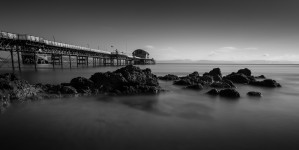 Mumbles pier and rocks by Leighton Collins