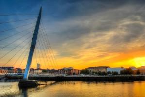 Swansea Millennium bridge  by Leighton Collins