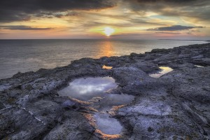 Sunset at Witches Point. by Leighton Collins