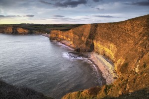 Dusk at Dunraven bay by Leighton Collins