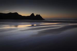 Daybreak at Three Cliffs Bay by Leighton Collins