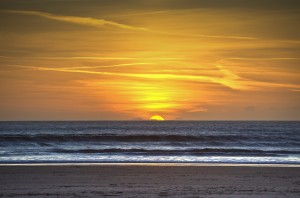 Sunset at Aberavon beach by Leighton Collins