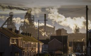 Port Talbot Steel works by Leighton Collins