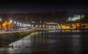 Oystermouth promenade by night by Leighton Collins