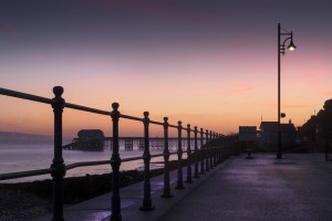 Dawn at Mumbles pier by Leighton Collins