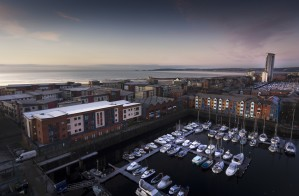 Swansea Marina and Mumbles by Leighton Collins