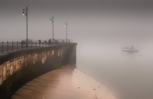 A misty morning at Mumbles by Leighton Collins