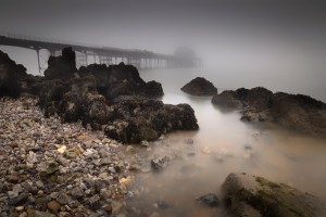 Misty Mumbles pier by Leighton Collins