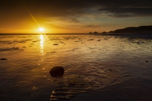 Sunrise at Swansea Bay by Leighton Collins