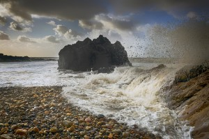 Donkey Rock on Rotherslade Bay by Leighton Collins