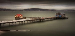 Mumbles Pier and Kilvey Hill by Leighton Collins