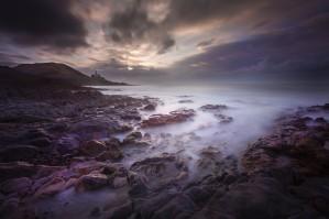 Daybreak at Bracelet Bay by Leighton Collins