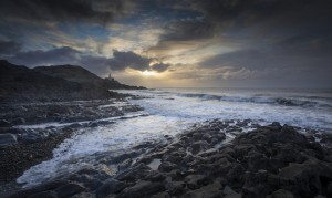 Early morning at Bracelet Bay by Leighton Collins