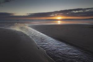 Aberavon beach sunset by Leighton Collins