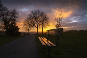 Somewhere to sit at sunset by Leighton Collins