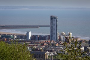 Meridian tower Swansea by Leighton Collins