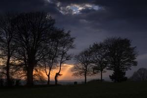 Rays of light through a dark sky by Leighton Collins