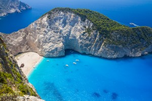 Amazing Navagio Beach in Zakynthos Island, Greece by Levente Bodo