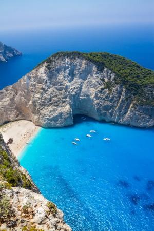 Beautiful view of Navagio Beach in Zakynthos, Greece by Levente Bodo
